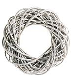 Kranz Willow Weiß, 35x35x10 cm - 211656