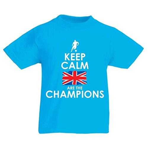 lepni.me T-Shirt per Bambini North Irish Are The Champions ! (3-4 Years Azzurro