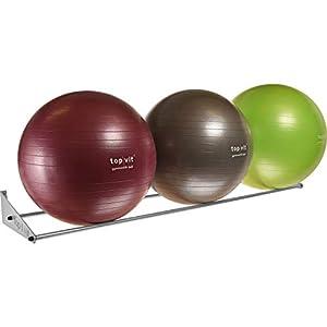top | vit® Ball.wandhalter – Wandhalterung für bis zu 3 Gymnastikbälle