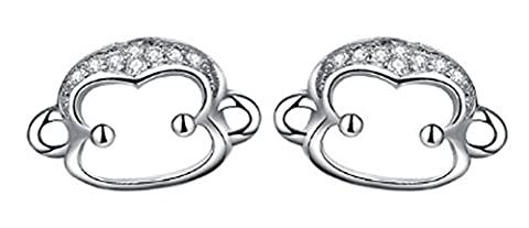 SaySure - Real 925 Sterling Silver Earrings for Women Mokey Earrings