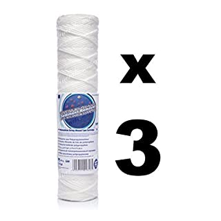 3 x 1 micron sediment filter string-wound 10