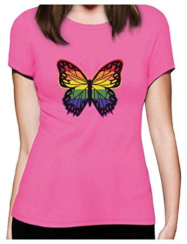 Pride Parade Gay & Lesbian Rainbow Butterfly Women T-Shirt