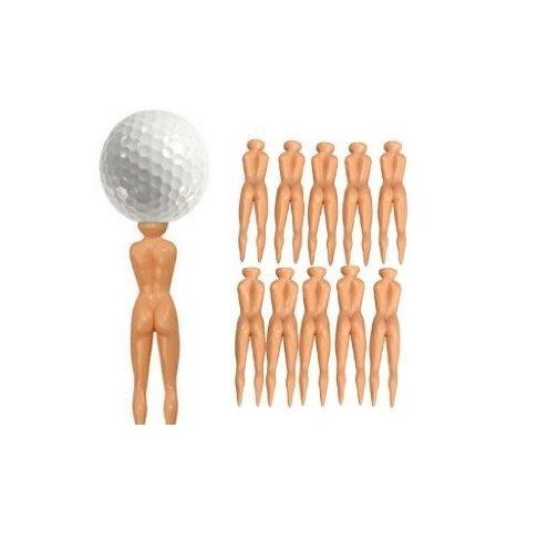 Nude Damen Golf Tees-10Stück nuddie Naked Golfer Ball Tees -