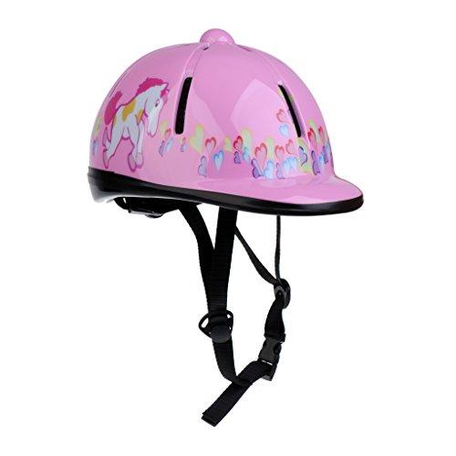 Baoblaze Kinder Reithelm verstellbar Pferdesport Kinder Helm - Rosa