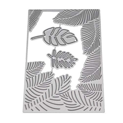 Nangjiang Blatt Metall Stanzformen Schablone DIY Scrapbooking Album Stempel Papier Karte Präge Craft Decor (Blätter Stempel)