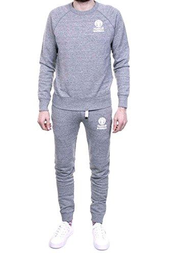 franklin-marshall-mens-left-chest-logo-marled-sweatshirt-tracksuit-grey-large