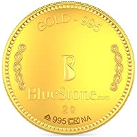 BlueStone BIS Hallmarked 2 grams 24k (995) Yellow Gold Precious Coin