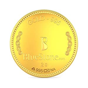 BlueStone BIS Hallmarked 2 Grams 24k (995) Yellow Gold Precious Coin