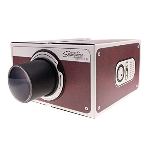 e Projektor Tragbarer Mini Projektor für Kartontelefone DIY Projektor Karton Licht für Weihnachten Halloween Kindertag Thanksgiving Studenten Dekorative Geschenke ()