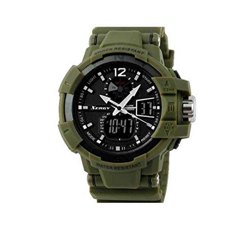 Xergy Dual Time Sports Analog-Digital Black Dial Boys & Mens Watch- 8221-4