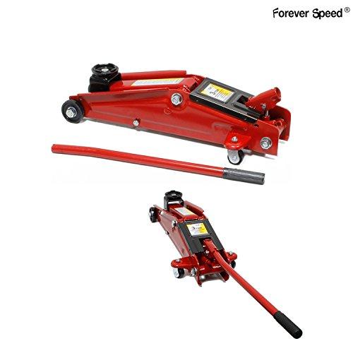 Forever Speed Speed 3T Hydraulischer Rangierwagenheber Wagenheber Hydraulisch Flach 135-400mm Hohe Lifting Rot