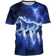 SEVENWELL Unisex 3D Camisas De Impresión Digital Con Estilo Vivo Realista Animal Manga Corta Camiseta Tops