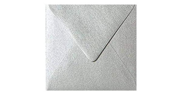 100 15 x 15 cm 150 x 150 mm feuchtklebend Umschl/äge Quadratische//Briefumschl/äge//Farbe//Silber//Metallic