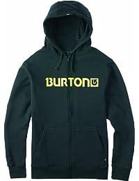 Burton Kapuzenpullover Mens Logo Horizontal Fullzip - Sudadera con capucha para hombre, color negro, talla L