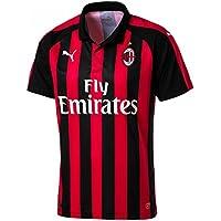 Puma AC Milan Home Camisetas de Equipación, Hombre, Negro/Rojo (Tango), XXL