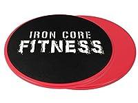 Iron Core Fitness - Juego de 2 discos deslizantes para entrenamiento (compatibles con cualquier superficie)