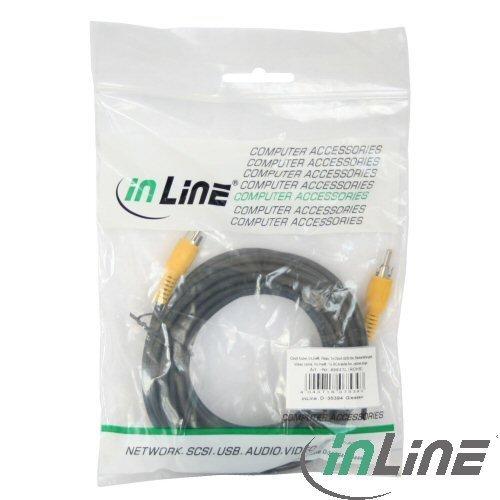 InLine® 89937D Cinch Kabel, Video, 1x CinchStecker/Stecker, Steckerfarbe gelb, 3m