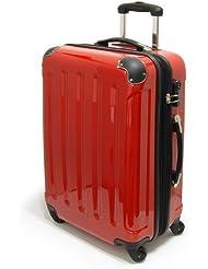 Reisekoffer aus Polycarbonat - Trolley, Koffer, in ROT - Gr. M-Boardcase/58cm/45L