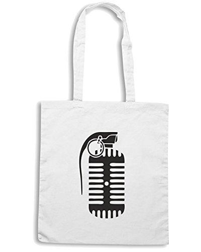 T-Shirtshock - Borsa Shopping TM0458 microfono bomba Bianco