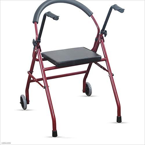 MODYL Caminante para Ancianos Caminante Plegable Sentado Walker Walker con Ejercicio De Rehabilitación para Ruedas