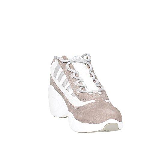 FORNARINA scarpe donna sneakers con zeppa PE17UP1183V006 BIANCO/GRIGIO Bianco-grigio