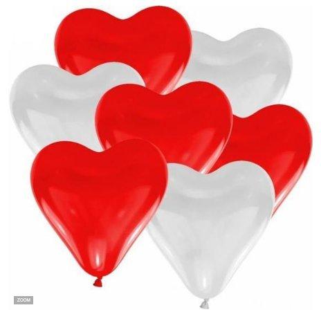 Scrox 100 pcs Fiesta de Bodas en Forma de corazón del Globo de la decoración de la Fiesta de cumpleaños del Globo del látex(50 Blanco +50 Rojo)
