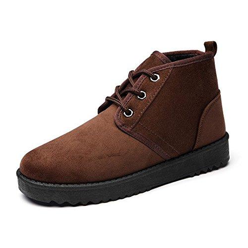 Autunno e Inverno stivali di grandi dimensioni le racchette da neve scarpe di cotone scarpe scarponi da neve brown