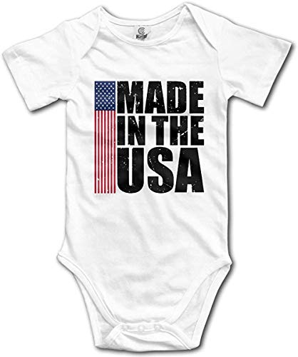 WlQshop Unisex-Baby Kurzarm Body, Made in The USA Newborn Baby Girl Clothes Short Sleeve Infant Bodysuit -