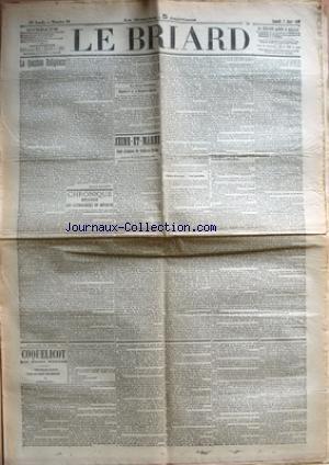 BRIARD (LE) [No 18] du 07/03/1903 - LA QUESTION RELIGIEUSE PAR EDMOND GALABERT - CHRONIQUE BRIARDE - LES CATHOLIQUES EN REVOLTE PAR GEROME - NAPOLEON 1ER ET LA MENDICITE RELIGIEUSE - SEINE-ET-MARNE - COUR D'ASSISES DE SEINE-ET-MARNE - AFFAIRE PSAUME - VOL QUALIFIE - VOLS QUALIFIES AVEC ESCALADE ET EFFRACTION - FEUILLETON DU BRIARD - COQUELICOT PAR PIERRE NINOUS.