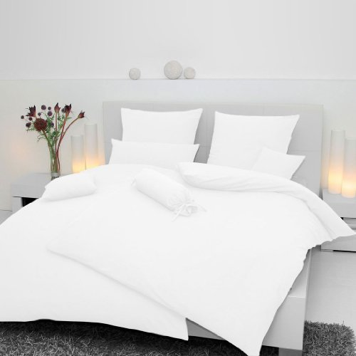 Janine Design Mako-Soft-Seersucker Bettwäsche Piano weiß Kissenbezug einzeln 40x80 cm (Gedeckte Farbtöne)