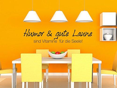 Klebeheld® Wandtattoo Spruch Humor und Gute Laune sind Vitamine für die Seele!