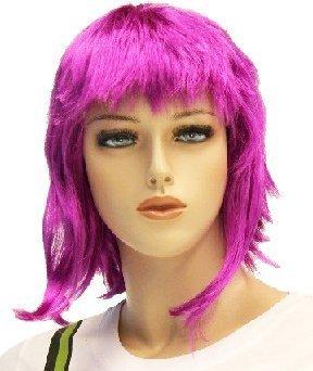 TV Store Scott Pilgrim Vs. The World Ramona Flowers Kostüm Perücke (Hot Pink) One Size Fits - Pilgrim Kostüm Für Erwachsene