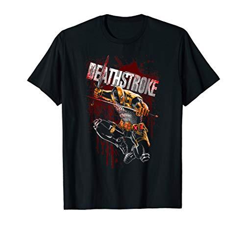 Batman Deathstroke Blood Splattered T Shirt