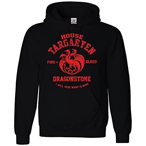 Sudaderas con diseño inspirado en the Thrones House Targaryen, estamp