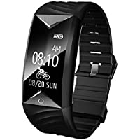 YAMAY Fitness Tracker HR,Activity Tracker Watch with Heart Rate Monitor Waterproof IP67 Smartwatch Step Counter Pedometer Watch for Women Men Call SMS SNS notification Push for iOS and Android Phone