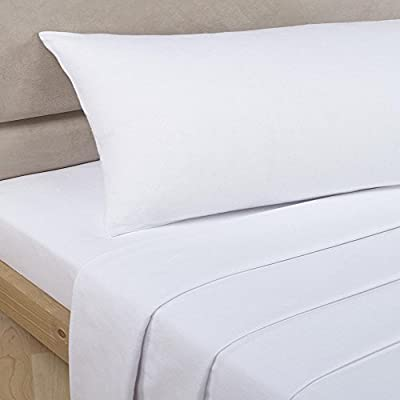 Viceroybedding 100% Egyptian Cotton Flat Sheet, White, Double 200 Thread Count