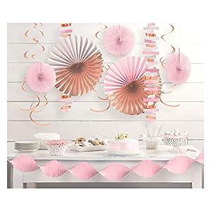 Amscan International Amscan 242681 - Kit de decoración de papel para habitación (1 colorete de oro rosa)
