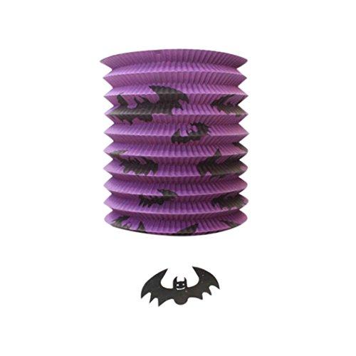 winwintom Papier Kürbis Fledermaus Skelett Hängelaterne Lampe Halloween Party Decor