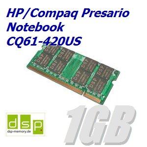 Notebook-420us (1GB Speicher / RAM für HP/Compaq Presario Notebook CQ61-420US)