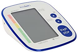 AccuSure 3.7 V Automatic Blood Pressure Monitor (White and Blue)
