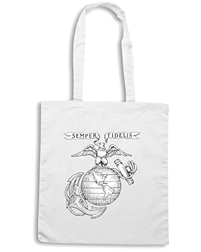 T-Shirtshock - Borsa Shopping TM0384 Old Corps USMC usa Bianco