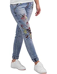 Authentic Style Femme Jeans / Slim Rock Angel Flower