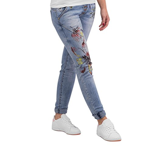 Authentic Style Donna Jeans / Jeans slim fit Rock Angel Flower