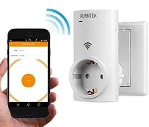 avantek prise lectrique wifi intelligente interrupteur domotique wf eu01 contr le de la. Black Bedroom Furniture Sets. Home Design Ideas