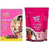Yogabar Wholegrain Breakfast Muesli Fruits, Nuts + Seeds, 400g (Oats & Muesli Combo - Fruits, Nuts & Seeds)