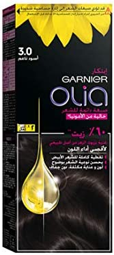 Garnier Olia, No Ammonia Permanent Hair Color With 60% Oils, 3.0 Soft Black