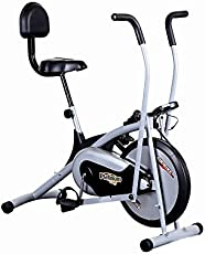 KS HEALTHCARE Body Gym Air Bike Platinum DX Exercise Cycle With Back