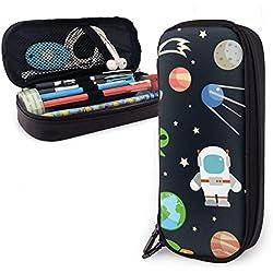 Estuche para lápices de dibujos animados con diseño de Alien para niños y niñas, estuche para lápices de tamaño grande para estudiantes, universidades, suministros escolares y oficina