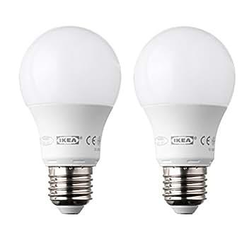 IKEA Ledare Lot de 2ampoules LED E27 globe opale blanc400lm