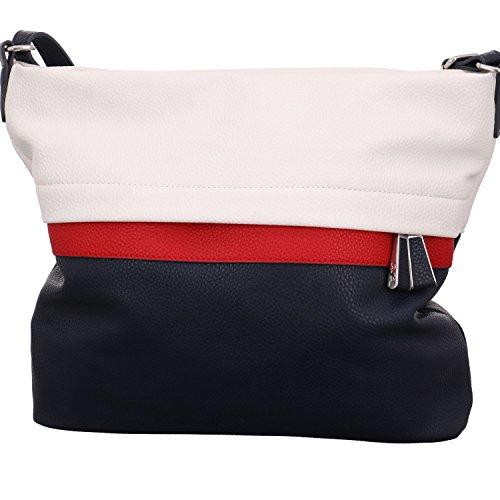 ara Damen Modena Tote, Mehrfarbig (Offwhite, Rot/Blau), 29x29x9 cm (Handtasche Damen Galerie)